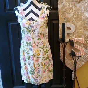 Esprit Sleeveless Flowery Dress